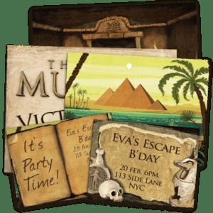 Invitations et poster escape game kit pour enfants
