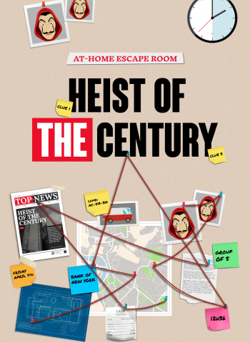 Heist of the century money heist escape room game escape kit