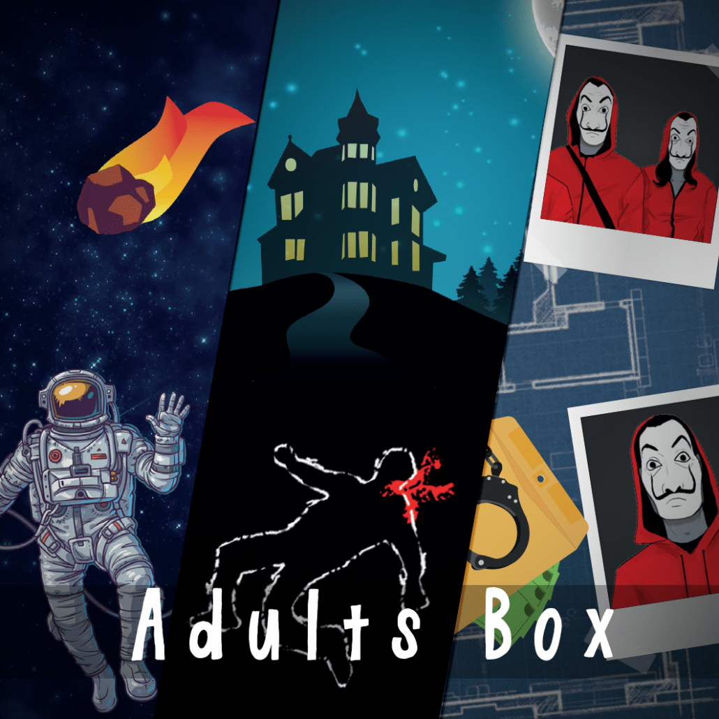 Adults box escape room home