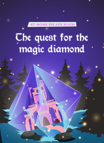 Quest of the magic diamond escape room for kids - frozen
