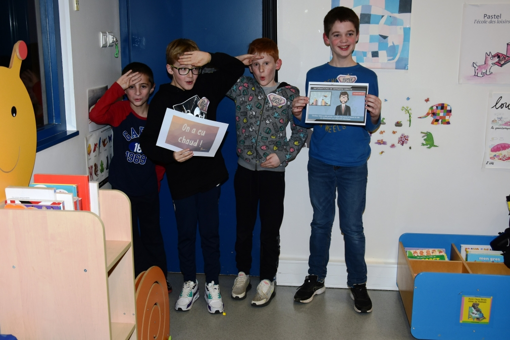 enfants classe escape game jeu