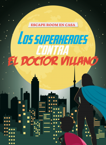 juego de Escape room para ninos superheroes en casa marvel dc comics