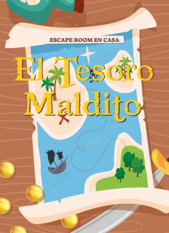 el tesoro maldito - juego de escape room en casa - juego de piratas
