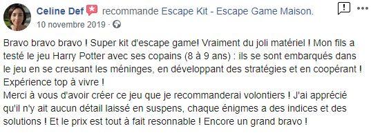 avis Escape Kit pour ados et adultes