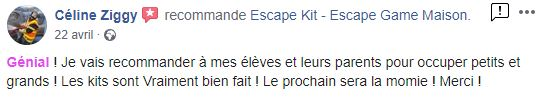avis escape game kit enfant
