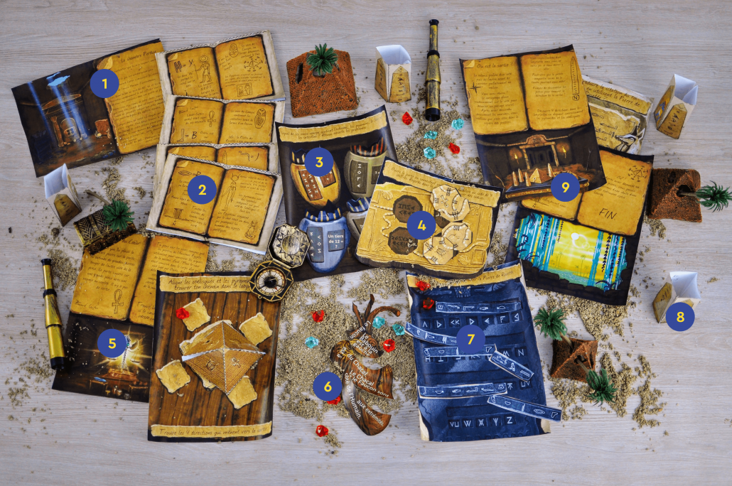 Escape Game EGYPTE / PHARAONS - Escape Kit pour enfants