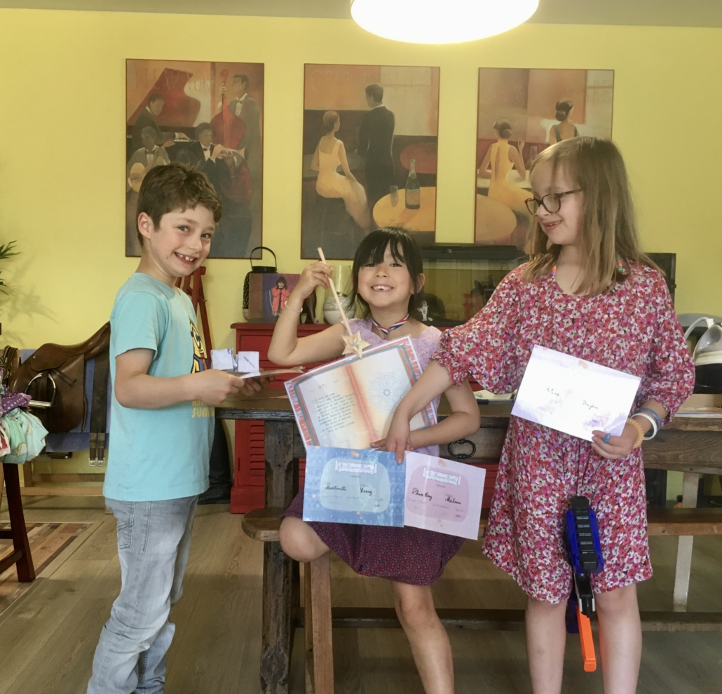 Escape room group of kids birthday