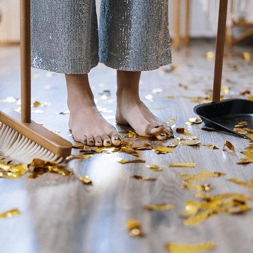 Ménage, printemps, activités