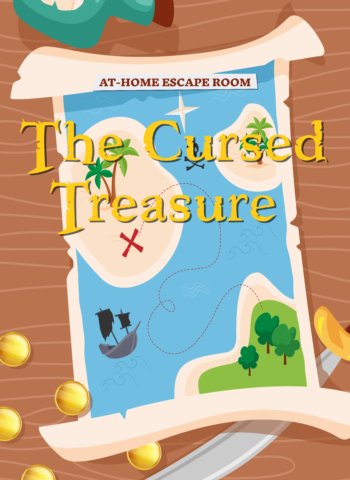 The cursed treasure - pirates Escape Room for kids to do at home
