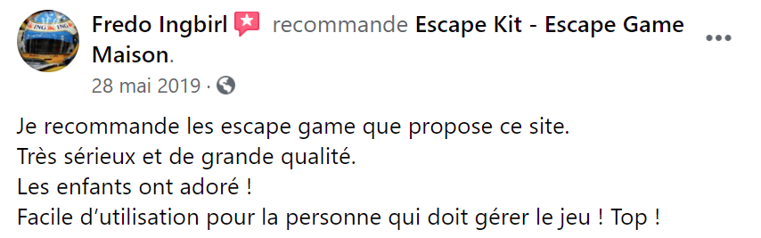 Avis maman escape game
